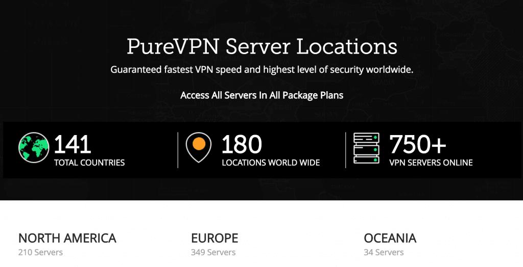 Serwery PureVPN